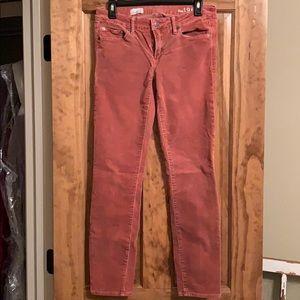 Red Gap corduroy skinny pants